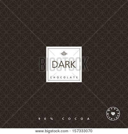 Chocolate package design element. Template. Seamless pattern - swatch included.