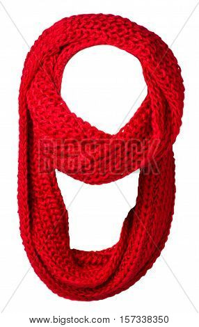 Scarf Isolated On White Background.scarf  Top View .red Scarf