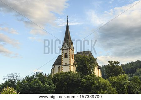 Saints Primus and Felician Church in Maria Worth Carinthia Austria on the Worthersee