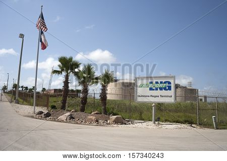 Quintana, Texas - May 28th 2016:  Freeport LNG Quintana Regas Terminal