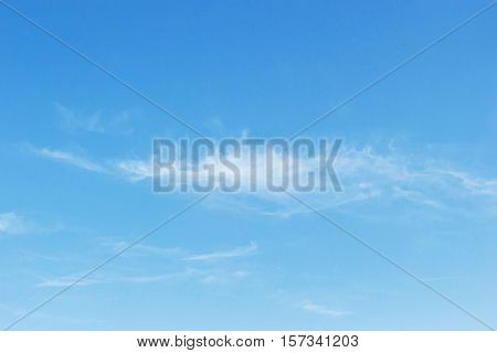 Fantastic Soft White Clouds Against Blue Sky Background, Soft Focus