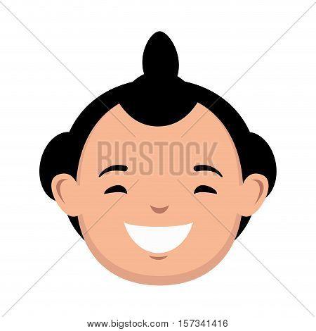 character sumo wrestler japanese vector illustration eps 10