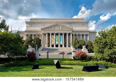 WASHINGTON D.C.,USA - AUGUST 16,2016 : The Archives of the United States of America in Washington D.C.