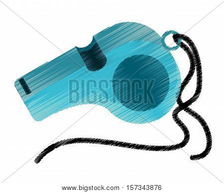 Whistle of trainer icon. Sport hobby competition and game theme. Isolated design. Vector illustration