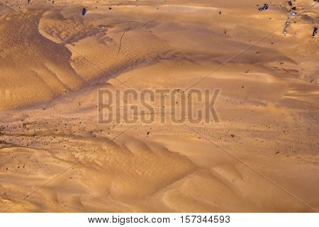 Fictional Mars Soil Aerial View, Sandy Background. Martian Desert Above