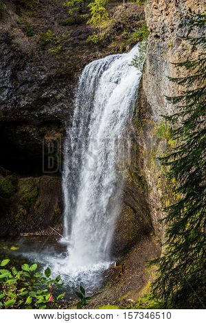 Moul Falls, Wells Gray Provinicial Park, Bc, Canada