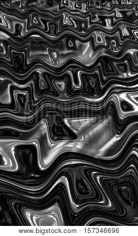 Gnarled background - abstract computer-generated image. Fractal geometry: chaos distortes lines and waves. For covers, posters, web design.