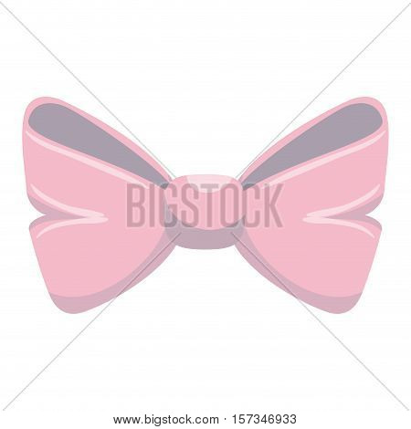 cute bown pink isolated icon vector illustration design