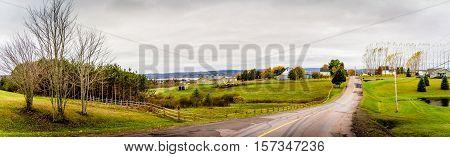 Bucolic landscape, Kent County, New Brunswick, Maritimes, Canada