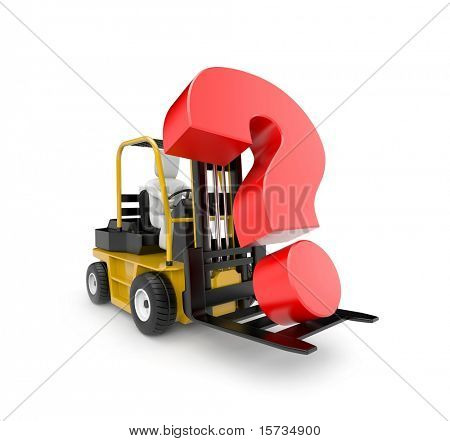 Forklift with question