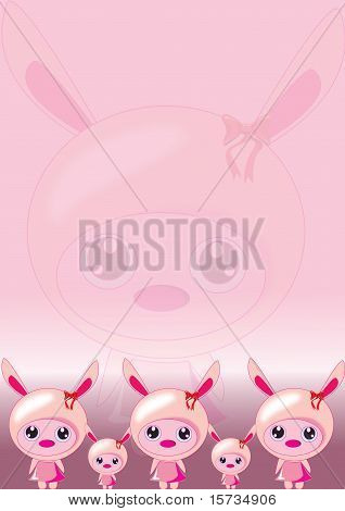 Bunny Pink Wallpaper
