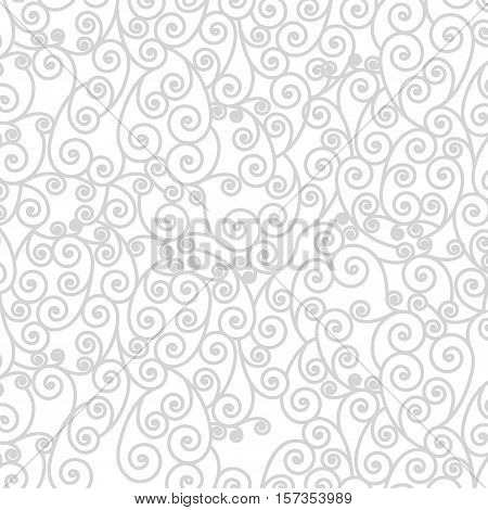 background pattern with arabesque in spiral vector illustration