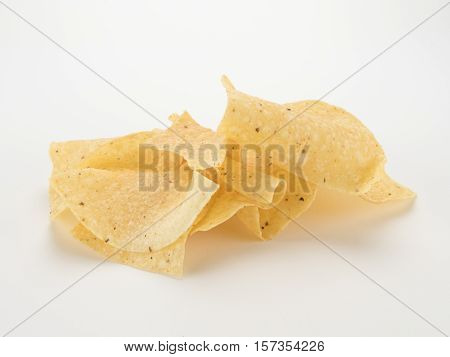 Tortilla Chips On White