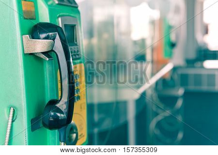 Payphone Or Public Telephone Coin And Card In Thailand