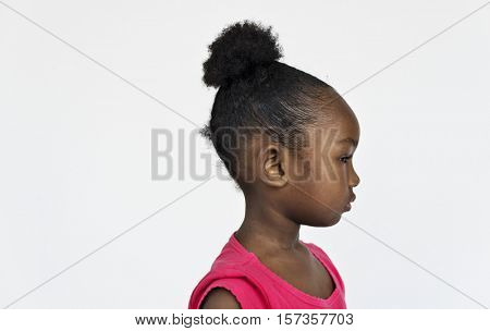 Girl African Cute Innocence Kid Concept