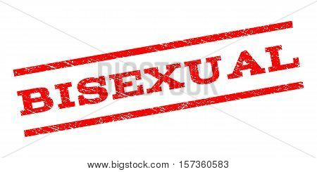 Bisexual watermark stamp. Text caption between parallel lines with grunge design style. Rubber seal stamp with scratched texture. Vector red color ink imprint on a white background.