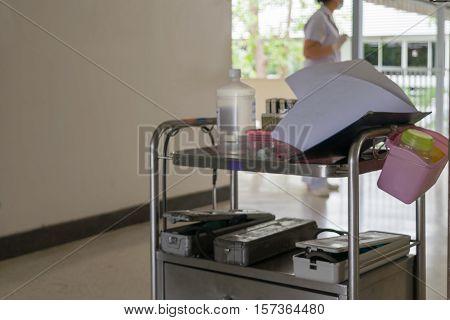 Medical Equipment On Cart