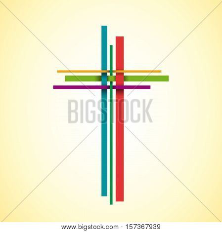 Vector abstract shape Christ crucifix; three crosses