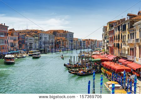 View Of The Grand Canal From The Rialto Bridge, Venice, Italy