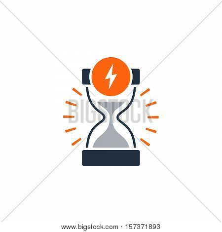 Fast delivery time concept icon. Satisfaction services. Flat design vector illustration
