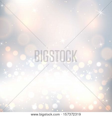 Abstract bokeh vector seamless pattern. Bokeh texture abstract pattern fills background surface. Colorful abstract bokeh geometric ornament pattern or background blur color design