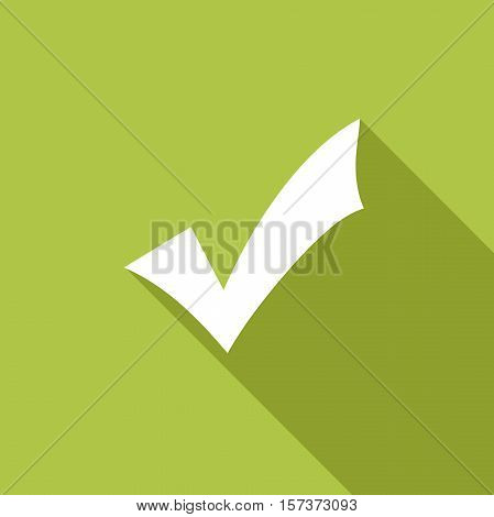 abstract Validation. Vector in green flat design