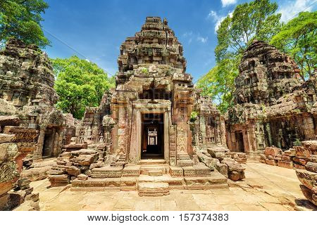 Sanctuary Of Ancient Ta Som Temple, Angkor, Siem Reap, Cambodia