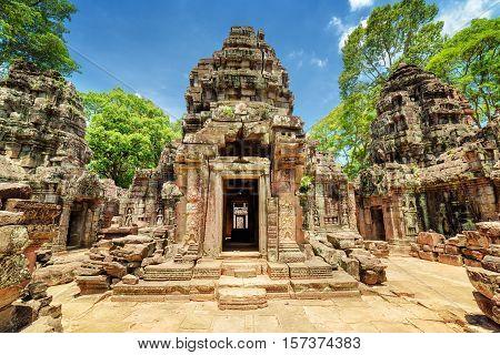 Sanctuary Of Ancient Ta Som Temple, Angkor, Siem Reap, Cambodia