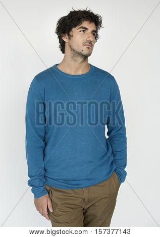 Man Casual Boredom Portrait Photography Concept