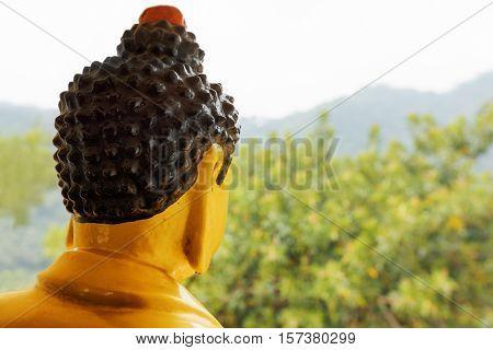 Buddha Statue Watches Over Surroundings Of The Ten Thousand Buddhas Monastery In Hong Kong