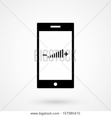 Volume Adjustment Icon Simple Design On A White Background. Vector Illustration