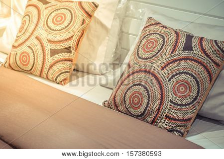 Pillow Brown Color On A Bed