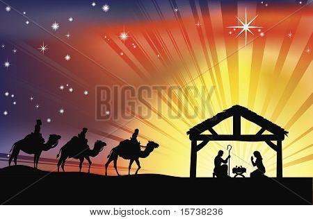 Cena do presépio de Natal de Christian