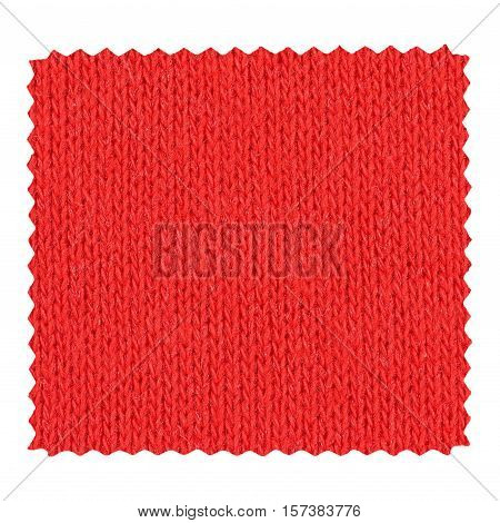 Red Zigzag Fabric Sample
