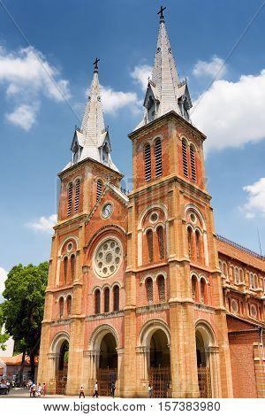 Saigon Notre-dame Cathedral Basilica, Ho Chi Minh City, Vietnam