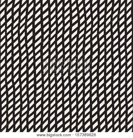 Wavy Hand Drawn Slanted Lines