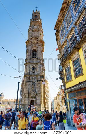 The Bell Tower Of Torre Dos Clerigos Is A Popular Tourist Attraction Of Portugal.