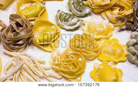 Italian Fresh Pasta Stuffed Tortellini And Homemade Noodles