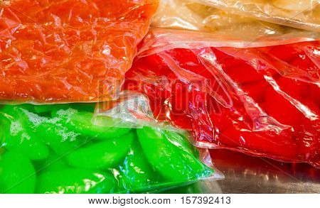 Vegetables Preserved In Vacuum-packed Bags To Maintain The Prope