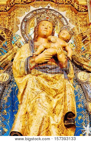 The Virgin Of Almudena (virgen De La Almudena), Madrid, Spain