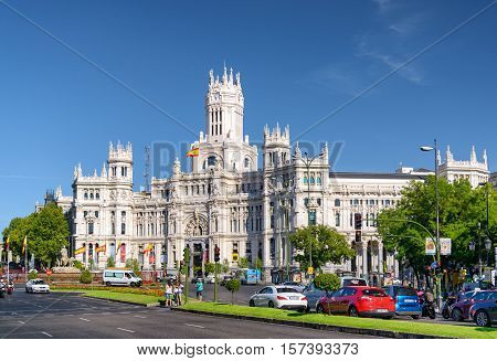The Cybele Palace (palace Of Communication) In Madrid, Spain