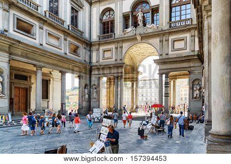 The Piazzale Degli Uffizi, Florence, Tuscany, Italy