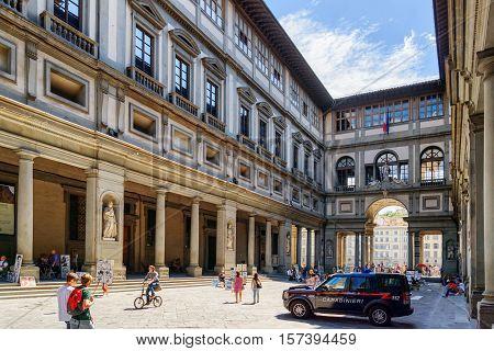 The Piazzale Degli Uffizi In Florence, Tuscany, Italy