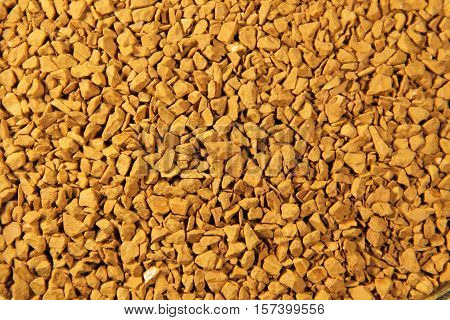 Abstract background of the instant coffee granules