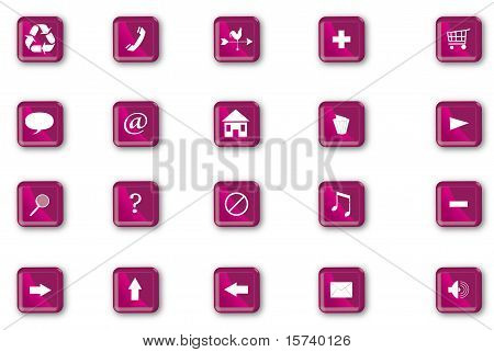 Plastic Navigation Icons