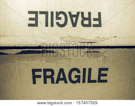 Vintage Looking Fragile Tag On Packet