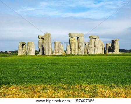 Hdr Stonehenge Monument In Amesbury