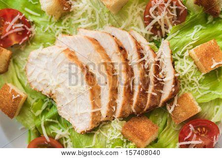 Closeup Of Chicken Fillet