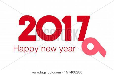 Happy new year 2017. Year 2016 vector design element. Merry Chrstmas Background for dinner invitations, festive posters,promotional depliant, greetings cards.