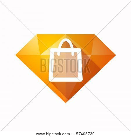 Isolated Diamond With A Shopping Bag